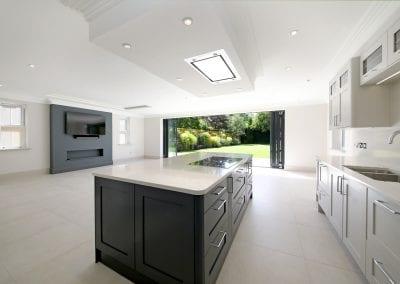 Westbury kitchen view to garden